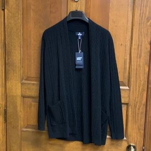 Land's End Black open front Cardigan size Small